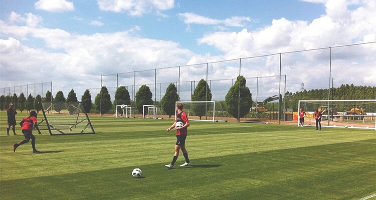 m-station goalkeeper training in Arsenal
